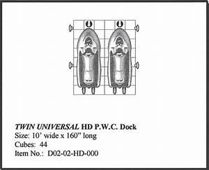 Universal Hd Double Jet Ski Dock  Personal Watercraft Lift