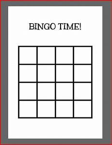 printable blank bingo cards 4x4 images download cv With 4x4 bingo template