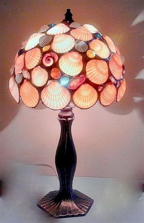 seashell project lamp seashells cool lamps decor into hative candle texture they frames