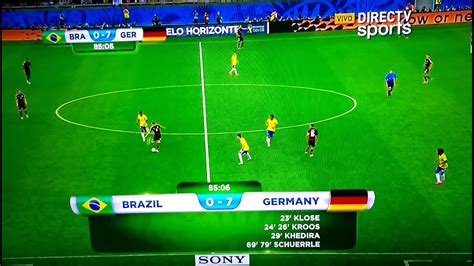 Scrolling Scoreboard Brazil Germany World cup 2014 - YouTube