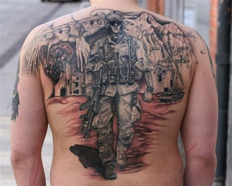 3d Fallen Angel Chest Tattoo