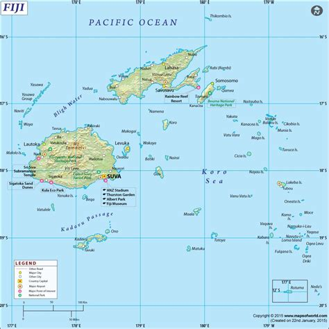 fiji map fiji fiji fiji islands map