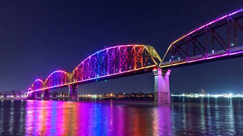 Bridge Bid Big Four Bridge Shines A Light On Louisville Waterfront