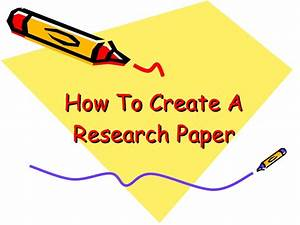 Graphic Design How To Create A Research Paper
