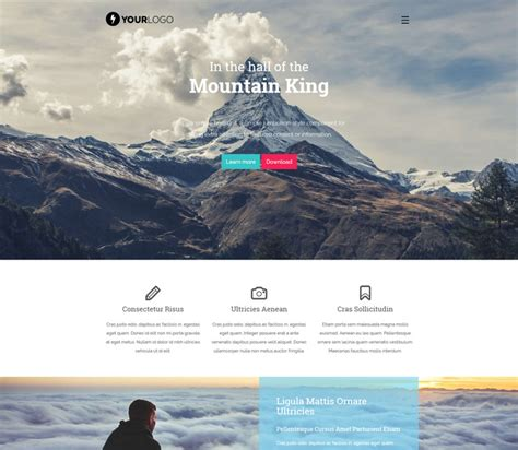 App Download Html5 Template by 66 Free Responsive Html5 Css3 Website Templates 2018