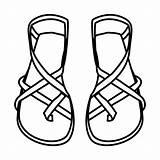 Sandalias Pintar Slippers Coloringp Pubers Abiti Clipartmag Fermaglio Artigianato Pagine sketch template