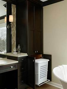 Bathroom Linen Cabinet With Hamper - WoodWorking Projects