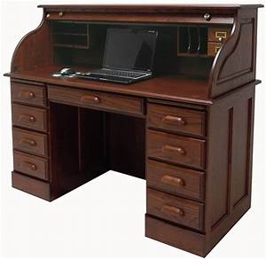 54 1 2 Quot Deluxe Solid Oak Roll Top Desk Laptop Clearance Modern Roll Top Desk Ideas