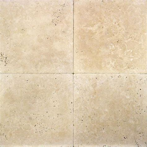 18 x 18 Ivory Classic Travertine Tumbled Tile ? DEKO Tile