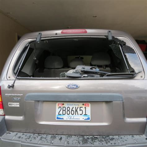 ford escape rear window exploded  complaints