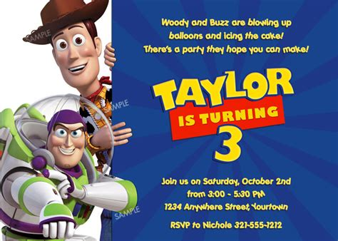 Toy Story Party Bag Template by Free Personalized Toy Story Birthday Invitations Template