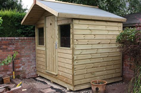 Wheeled Kitchen Island - 8ft x 6ft garden shed the wooden workshop oakford