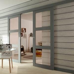 Porte Coulissante 93 Cm : porte coulissante verre 93 cm ~ Dailycaller-alerts.com Idées de Décoration