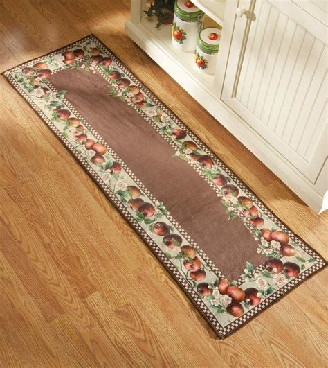 Kitchen Rugs by Apple Decor Runner Kitchen Rug Country Decor Apple Blossom