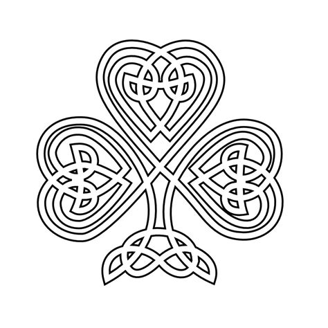 Information About Celtic Knot Shamrock Coloring Pages Yousense Info