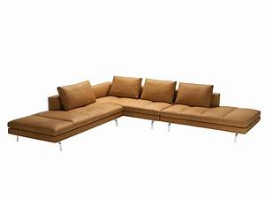 Sectional sofa with removable cover bruce by zanotta for Zanotta sectional sofa