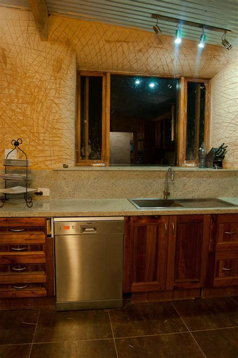 A Little Piece of Green: An eBay Kitchen in a Strawbale House
