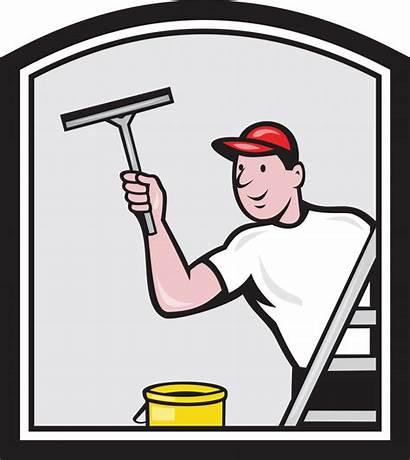 Window Cleaning Cartoon Cleaner Washer Money Hiring