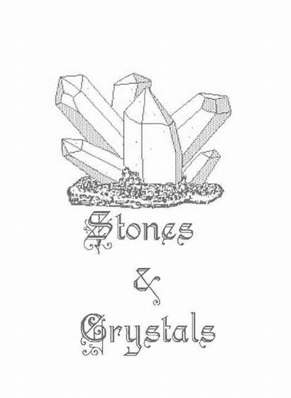 Crystals Pages Title Wicca Stones Coloring Shadows