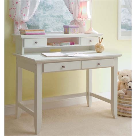 white student desk home styles white hardwood student desk hutch the