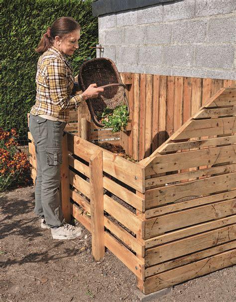 fabriquer composteur palette fabriquer un composteur en bois de palette