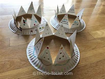 Paper Plate Crown Crafts Crowns Epiphany Kid