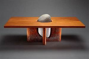 tsubo coffee table stone and wood furniture seth rolland With stone and wood coffee table