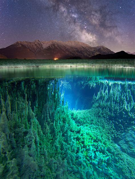amazing split view   milky    photographed