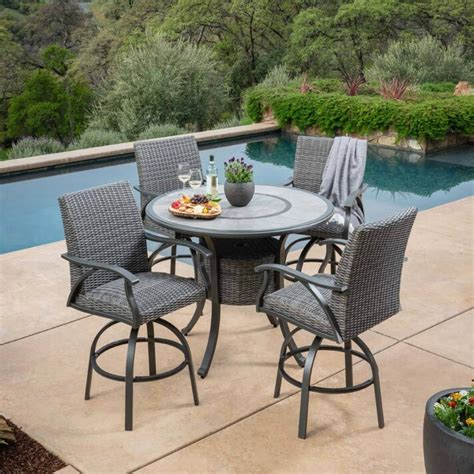 costco outdoor chairs sunvilla indigo 5 woven bar