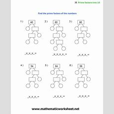 Christmas Factor Trees Worksheet, Factor Tree Worksheets  Math  Factor Trees, Worksheets, Math