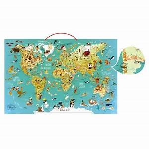 Carte Du Monde En Bois : puzzle 78 pi ces magn tique en bois carte du monde fantastique vilac le lutin rouge ~ Teatrodelosmanantiales.com Idées de Décoration