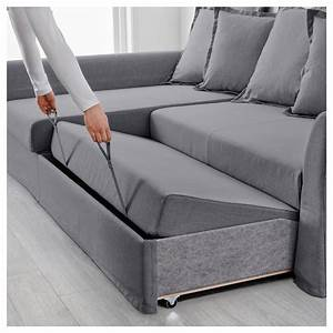 Sofa Bed Ikea : holmsund corner sofa bed nordvalla medium grey ikea ~ Watch28wear.com Haus und Dekorationen