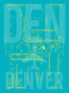 U0026 39 Den Denver  U2022 Airport Diagram  U2022 Aviation Art Gift For