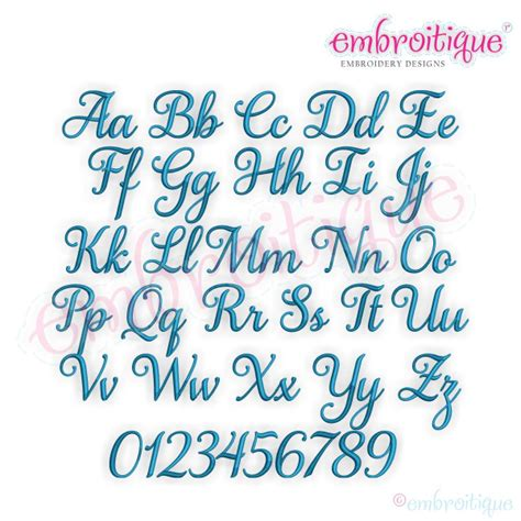 alphabets embroidery fonts aurora script monogram set  beautiful calligraphy alphabet
