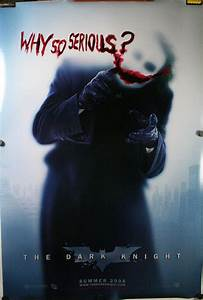 "DARK KNIGHT, Original Joker ""Why So Serious"" DS Teaser ..."