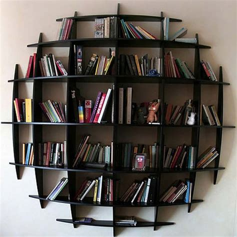 Wall Mounted Bookshelves Made From Recycled Things
