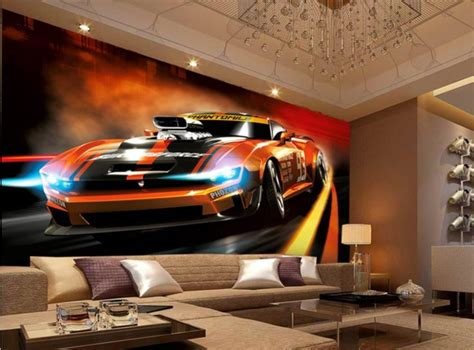 Car Wallpaper For Walls by 2017 New Design 3d Mural Wallpaper Painting Style Dynamic