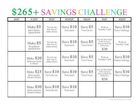 month money challenge  fun   save earn