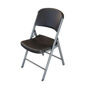 lifetime black folding chair set of 4 80407 the home depot