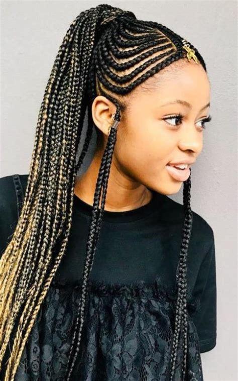 unique fulani braids   woman  haircuts
