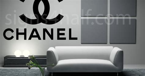 coco chanel designer logo removable wall decor decal