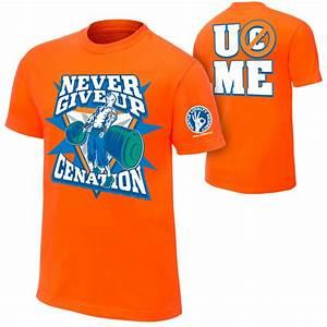 "John Cena ""Never Give Up"" T-Shirt | Pro Wrestling | FANDOM ..."