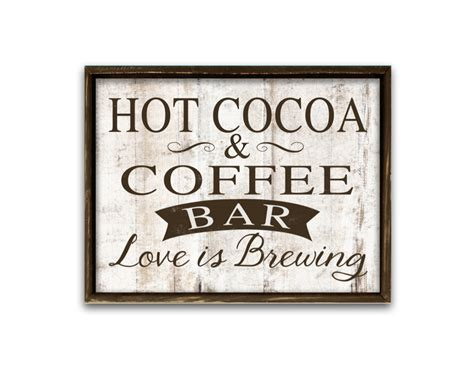 Screws or studs not included. Hot cocoa and coffee bar sign coffee signs wedding signs