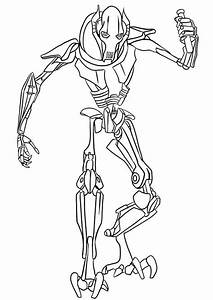 Lego General Grievous Coloring Pages Coloring Pages