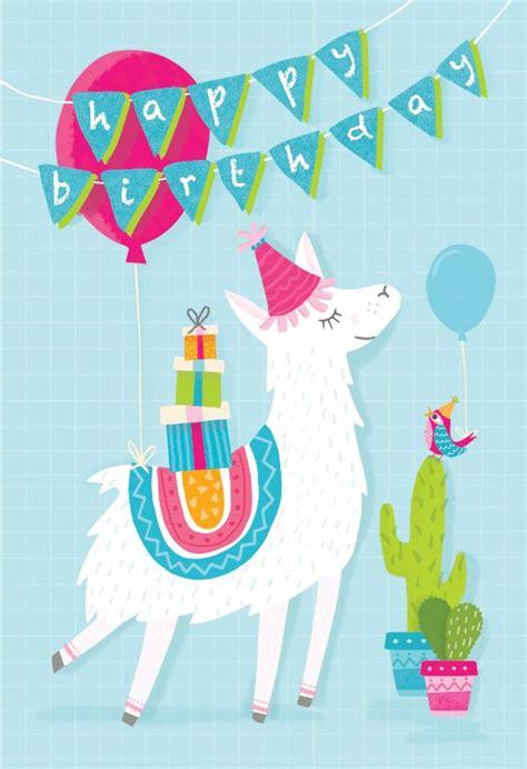 llama drama birthday card  kids birthday cards