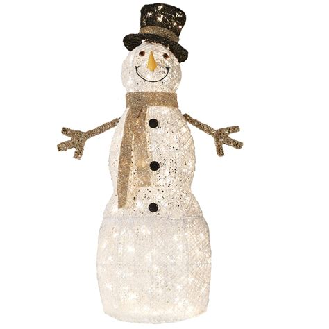 outdoor lighted snowman decorations lighted outdoor snowman 4 ft multicolor twinkling