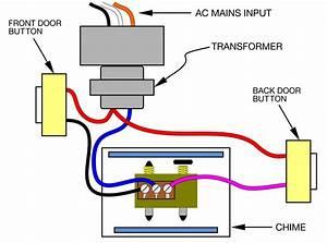 Door Chime Wiring Circuit Diagram