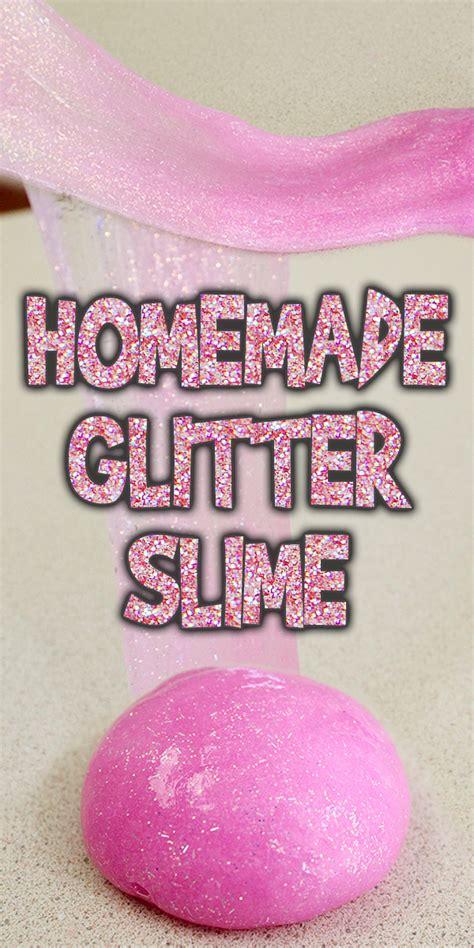 homemade glitter slime tutorial woo jr kids activities
