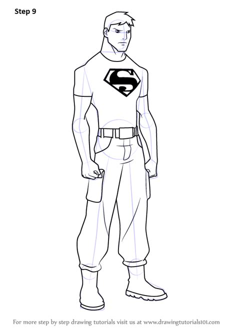 learn   draw superboy  young justice young justice step  step drawing tutorials