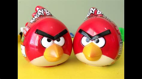 angry birds  toy surprise eggs unboxing
